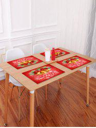 1PC Merry Christmas Bells Printed Placemat -