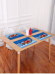 1PC Father Christmas Printed Placemat -