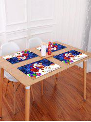 1PC Father Christmas Gift Print Placemat -