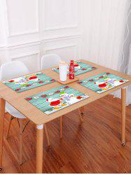 1PC Father Christmas Snowman Wooden Printed Placemat -