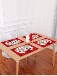 1PC Christmas Deer Star Printed Placemat -