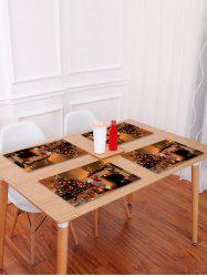 1PC Christmas Tree Stocking Printed Placemat -