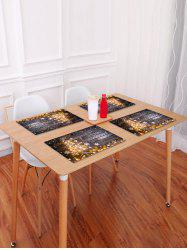Christmas Tree Wood Grain Pattern Placemat -