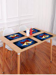 1PC Christmas Bell Print Placemat -
