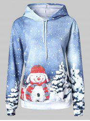 Plus Size Snowman Pullover Hoodie -