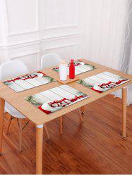 1PC Christmas Gift Wooden Printed Placemat -