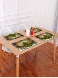 1PC Merry Christmas Tree Wooden Printed Placemat -