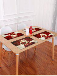 1PC Father Christmas Gift Printed Placemat -