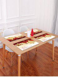 1PC Merry Christmas Happy New Year Printed Placemat -