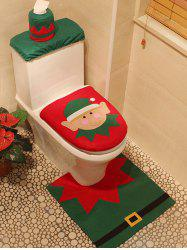 Christmas Pattern 3PCS Toilet Set -