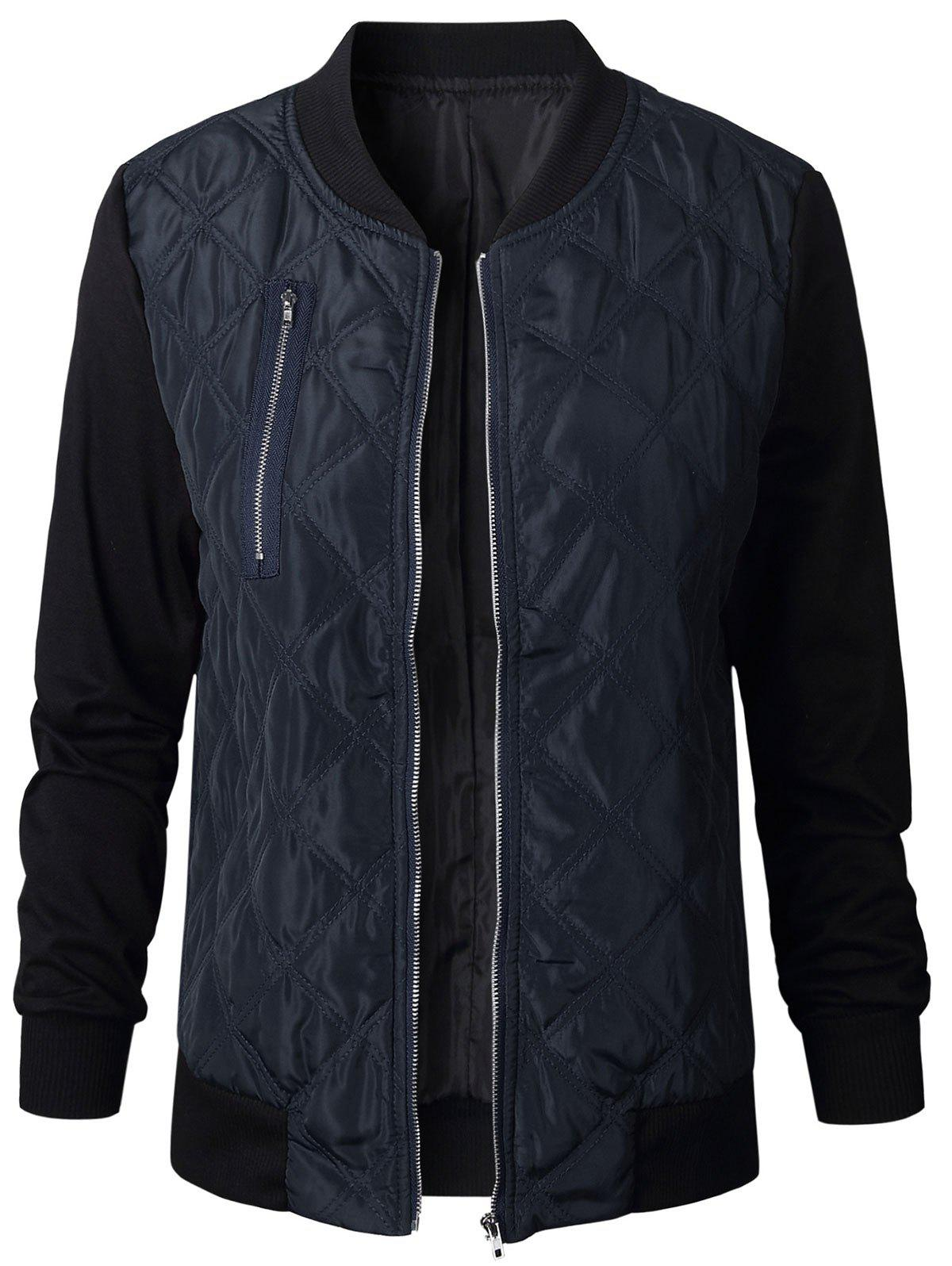 Latest Quilted Zip Fly Bomber Jacket