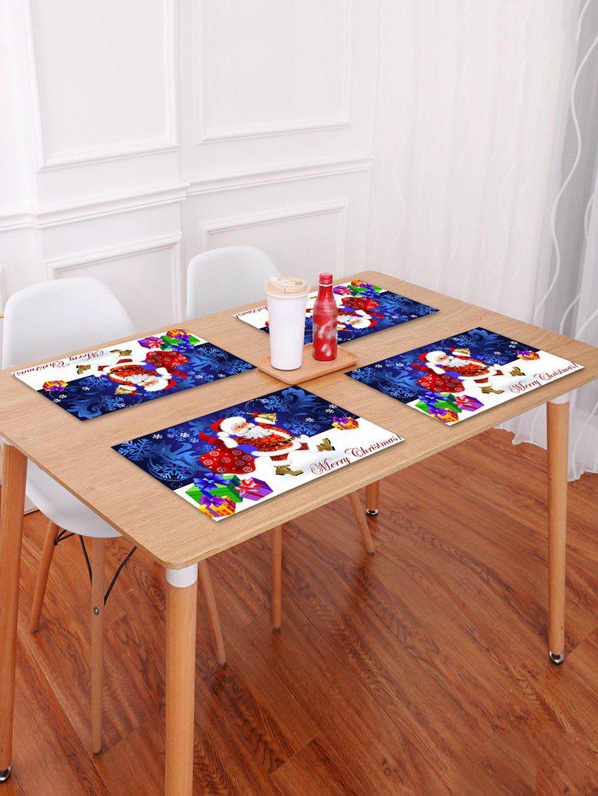 Fancy 1PC Father Christmas Gift Print Placemat