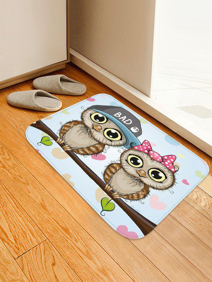 Cute Animal Owls Pattern Floor Mat
