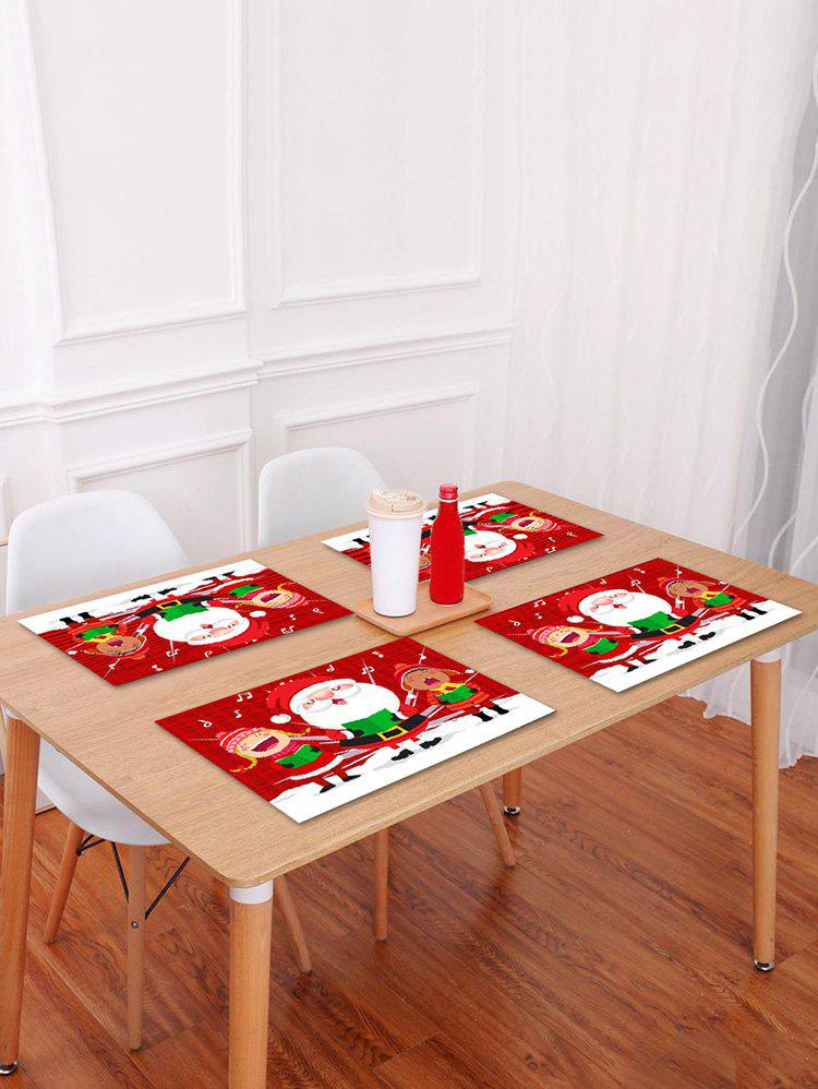 New 1PC Cartoon Father Christmas Printed Placemat