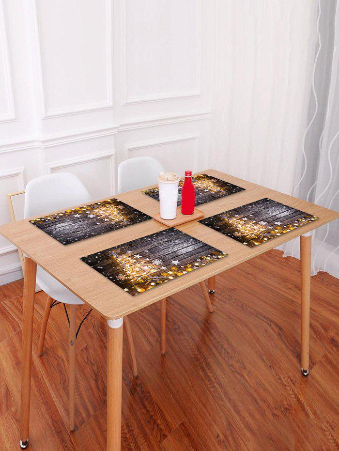 Buy Christmas Tree Wood Grain Pattern Placemat