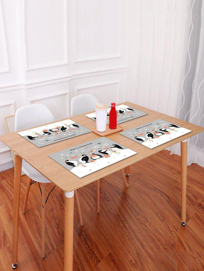 Hot Christmas Penguin Pattern Placemat