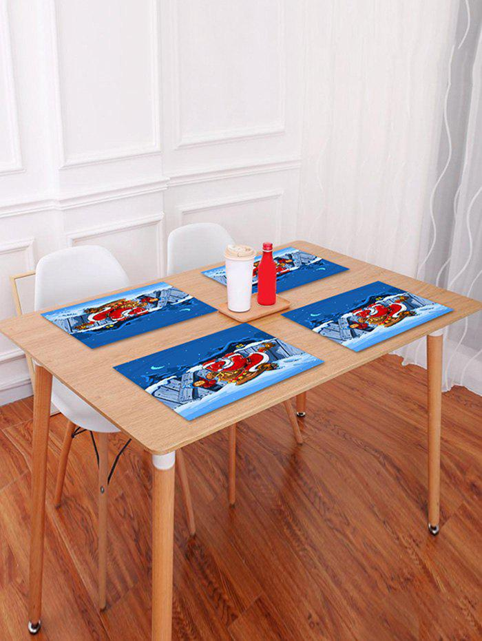 Unique 1PC Father Christmas Printed Placemat