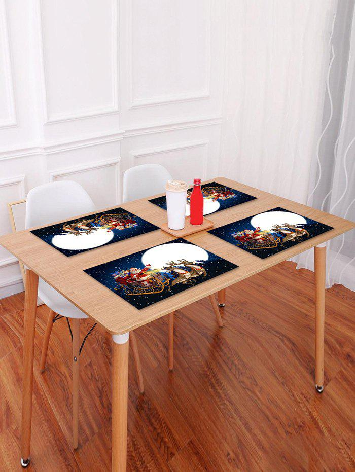 Latest 1PC Father Christmas Gift Elk Printed Placemat