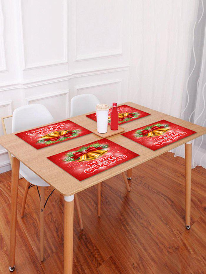 Trendy 1PC Merry Christmas Bells Printed Placemat