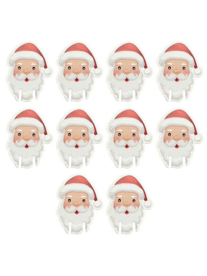 Affordable 10PCS Santa Claus Pattern Christmas Party Wine Glass DIY Decoration Cards