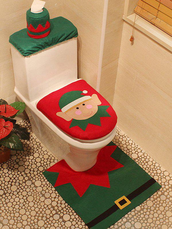 Buy Christmas Pattern 3PCS Toilet Set