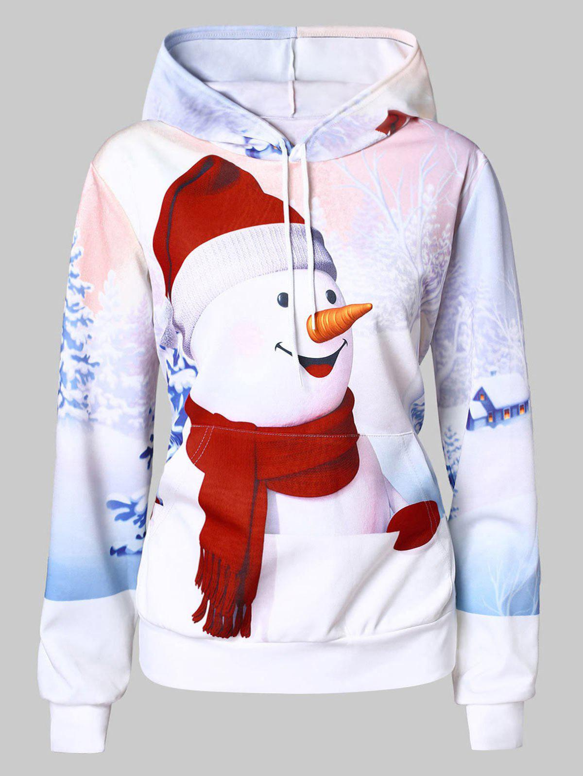 Latest Christmas Plus Size Snowman 3D Print Hoodie