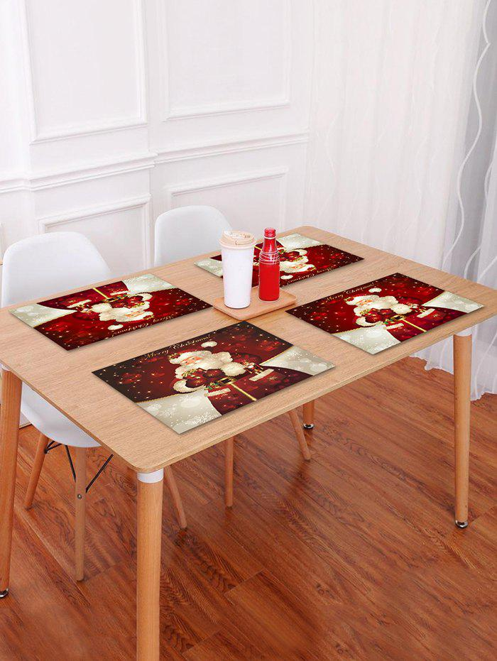 Latest 1PC Father Christmas Gift Printed Placemat