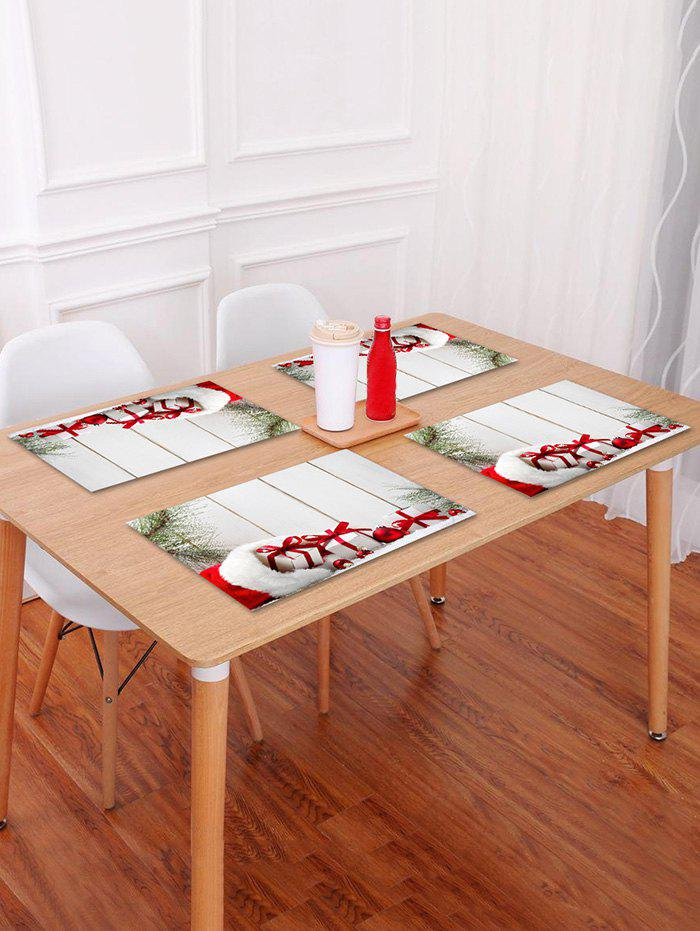 Best 1PC Christmas Gift Wooden Printed Placemat