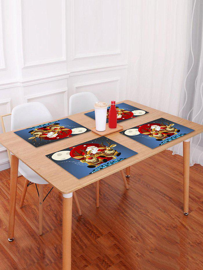Fashion 1PC Father Christmas Deer Printed Placemat