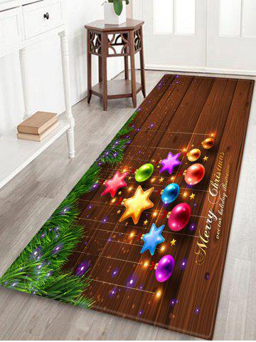Merry Christmas Star Ball Printed Floor Mat