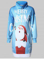 Christmas Plus Size Santa Claus Print Graphic Sweatshirt -