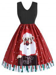 Plus Size Christmas Santa Claus Flare Dress -