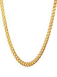 Link and Chain Design Metal Necklace -