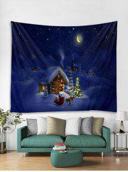 Christmas Night House Print Tapestry Wall Hanging Art Decoration -
