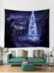 Christmas Tree Forest Print Tapestry Wall Hanging Art Decoration -