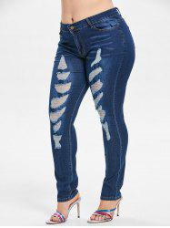 Ripped Skinny Plus Size Jeans -