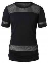 Short Sleeve Mesh Panel T-shirt -