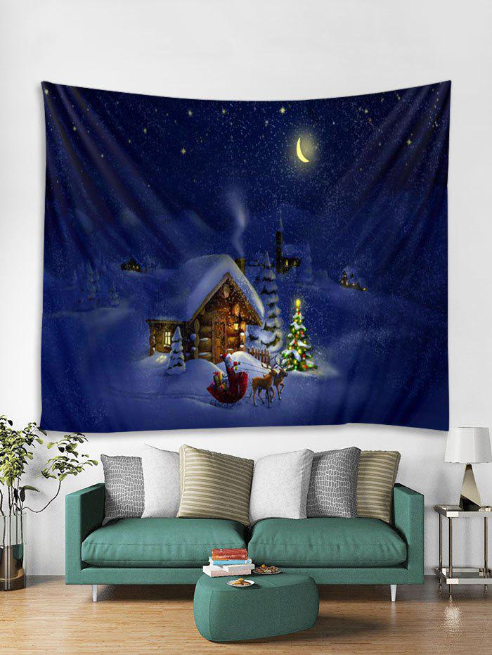 Sale Christmas Night House Print Tapestry Wall Hanging Art Decoration