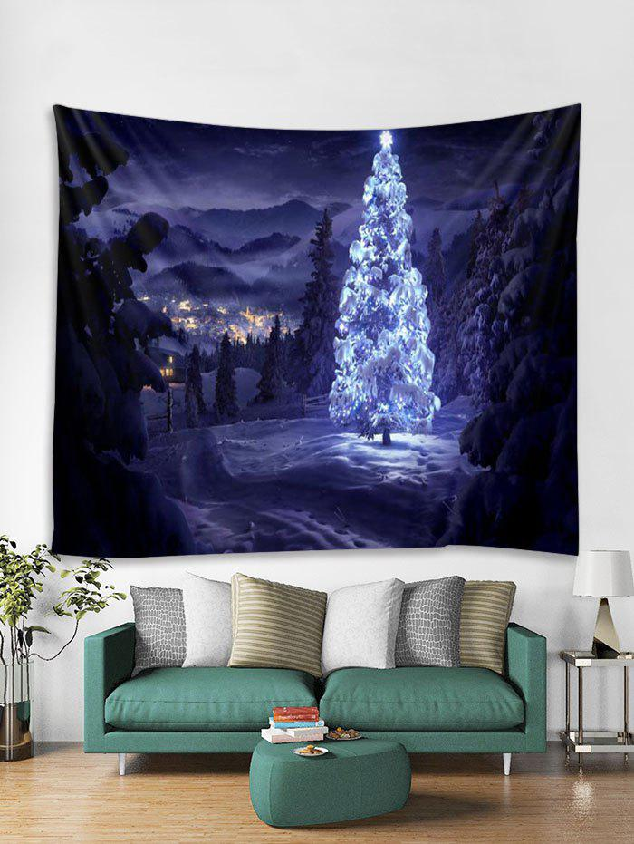 Affordable Christmas Tree Forest Print Tapestry Wall Hanging Art Decoration