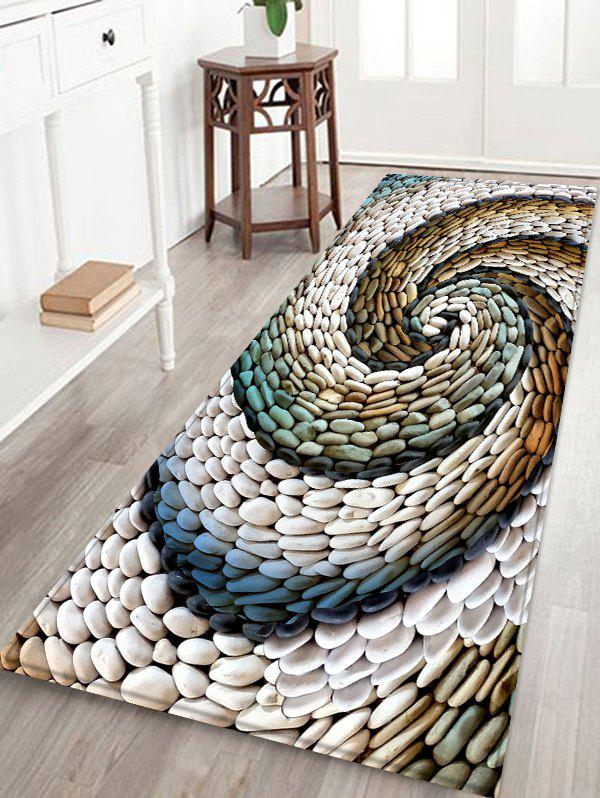 Outfit 3D Cobblestone Printed Floor Mat