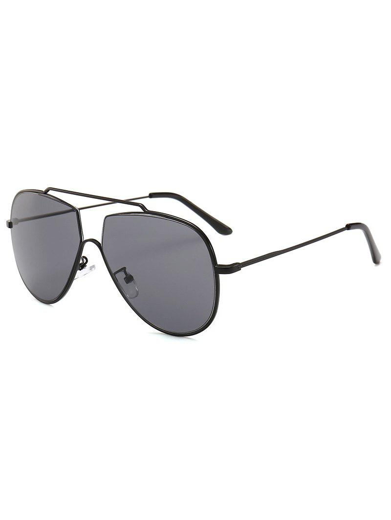 2af4ed1ad9b Latest UV Protection Crossbar Embellished Pilot Sunglasses