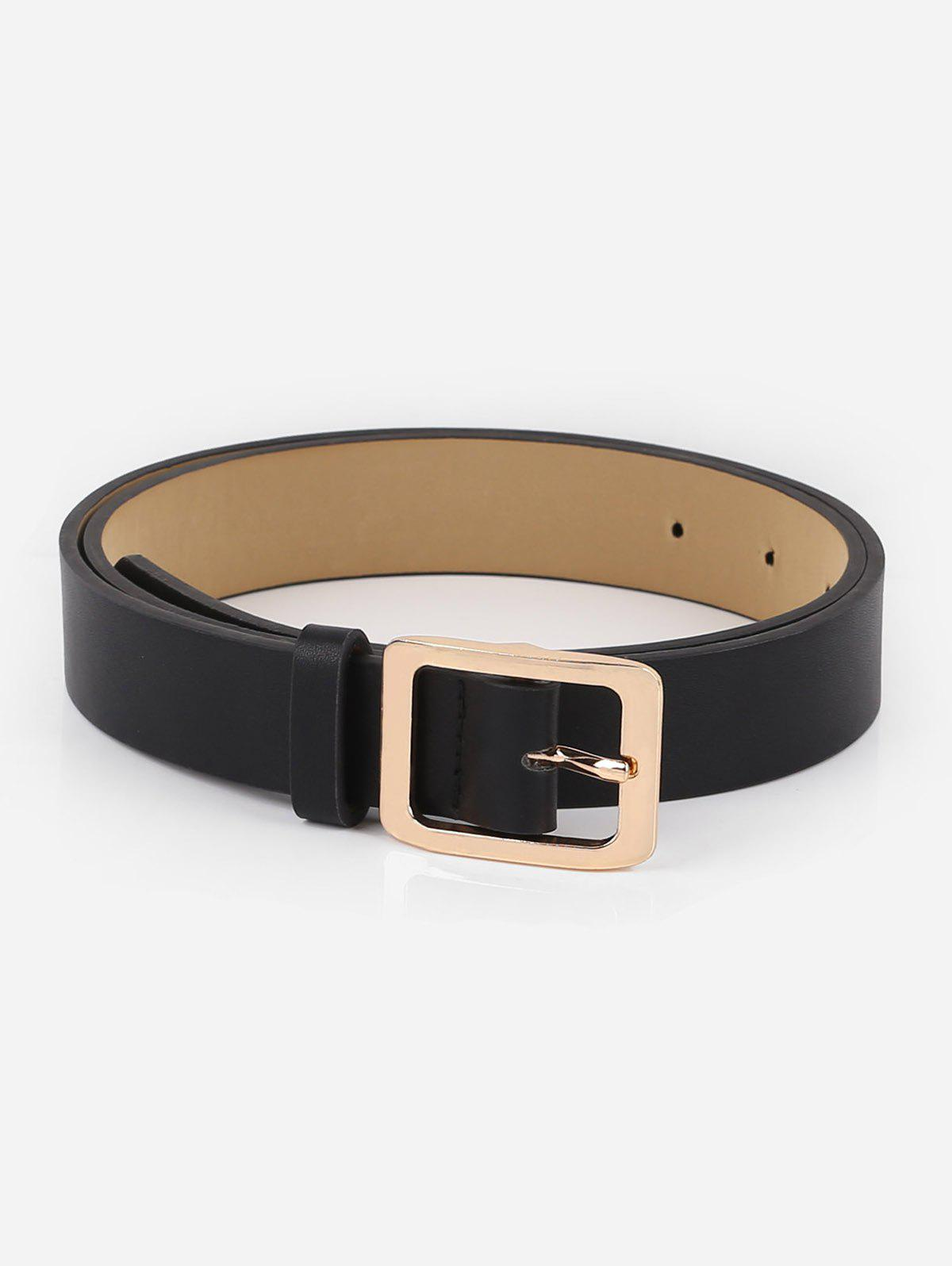 38f5f2be57c Alloy Square Buckle Faux Leather Belt