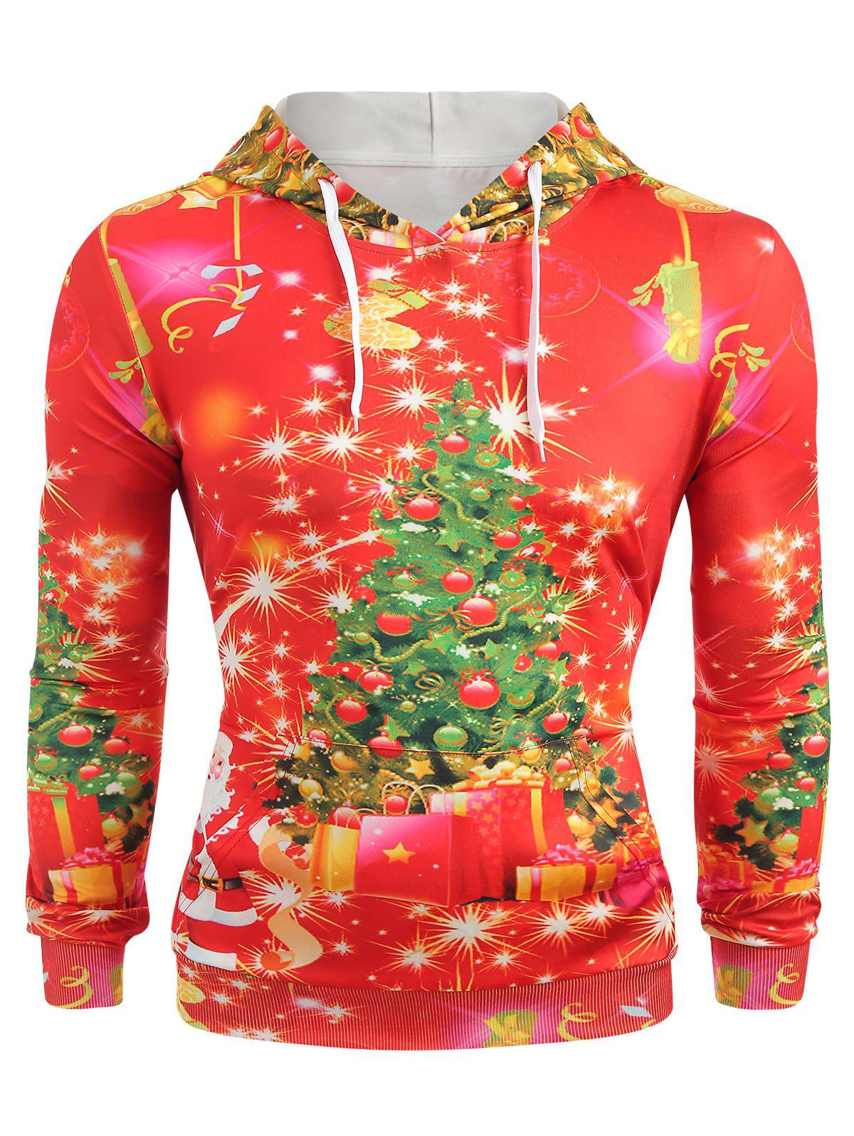 Best Christmas Tree Print Long Sleeve Hoodie