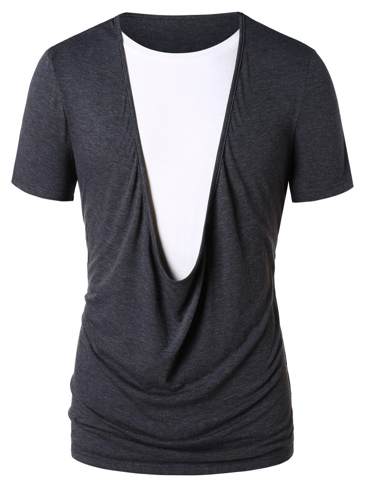 New Faux Twinset Color Block T-shirt