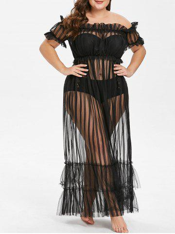 2019 sheer lace up plus size lingerie teddy  rosegal