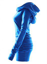 Plus Size Ruched Pullover Armhole Hoodie -