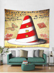 Christmas House Print Tapestry Wall Hanging Art Decoration -