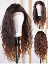 Long Colormix Natural Wavy Synthetic Lace Front Wig -