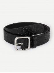 Square Buckle Faux Leather Casual Belt -