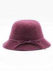 Bowknot Solid Color Bucket Hat -
